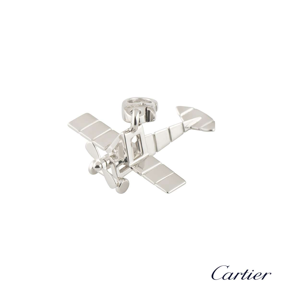 Cartier White Gold Airplane Charm